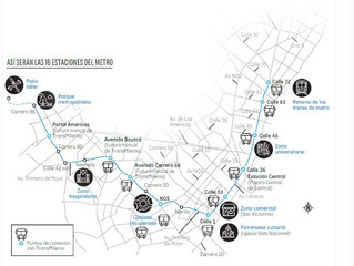 Entre 35 y 45 mil toneladas de acero serán usadas para la primera línea del metro de Bogotá