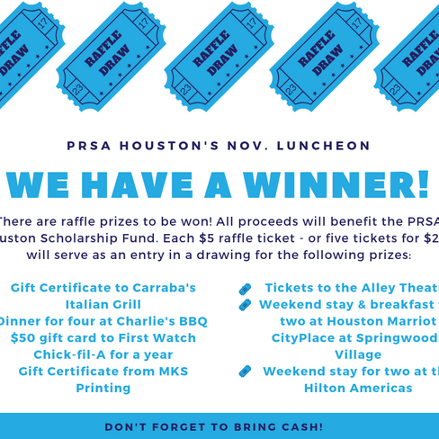 Attend Next Week's PRSA Houston Scholarship Luncheon!