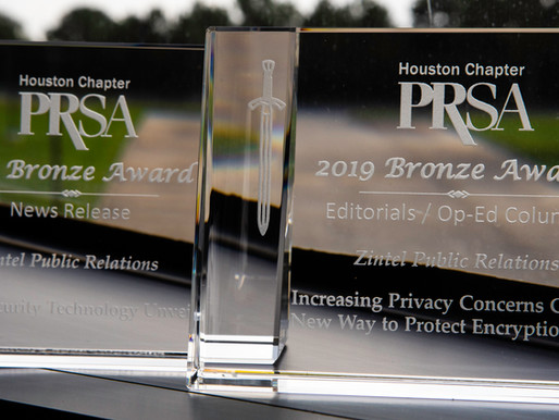 Zintel PR Earns Bronze Excalibur Awards in Op-Ed and News Release Categories