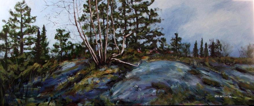 "22"" x 52"" acrylic on canvas. Available at Chenier Fine Arts."