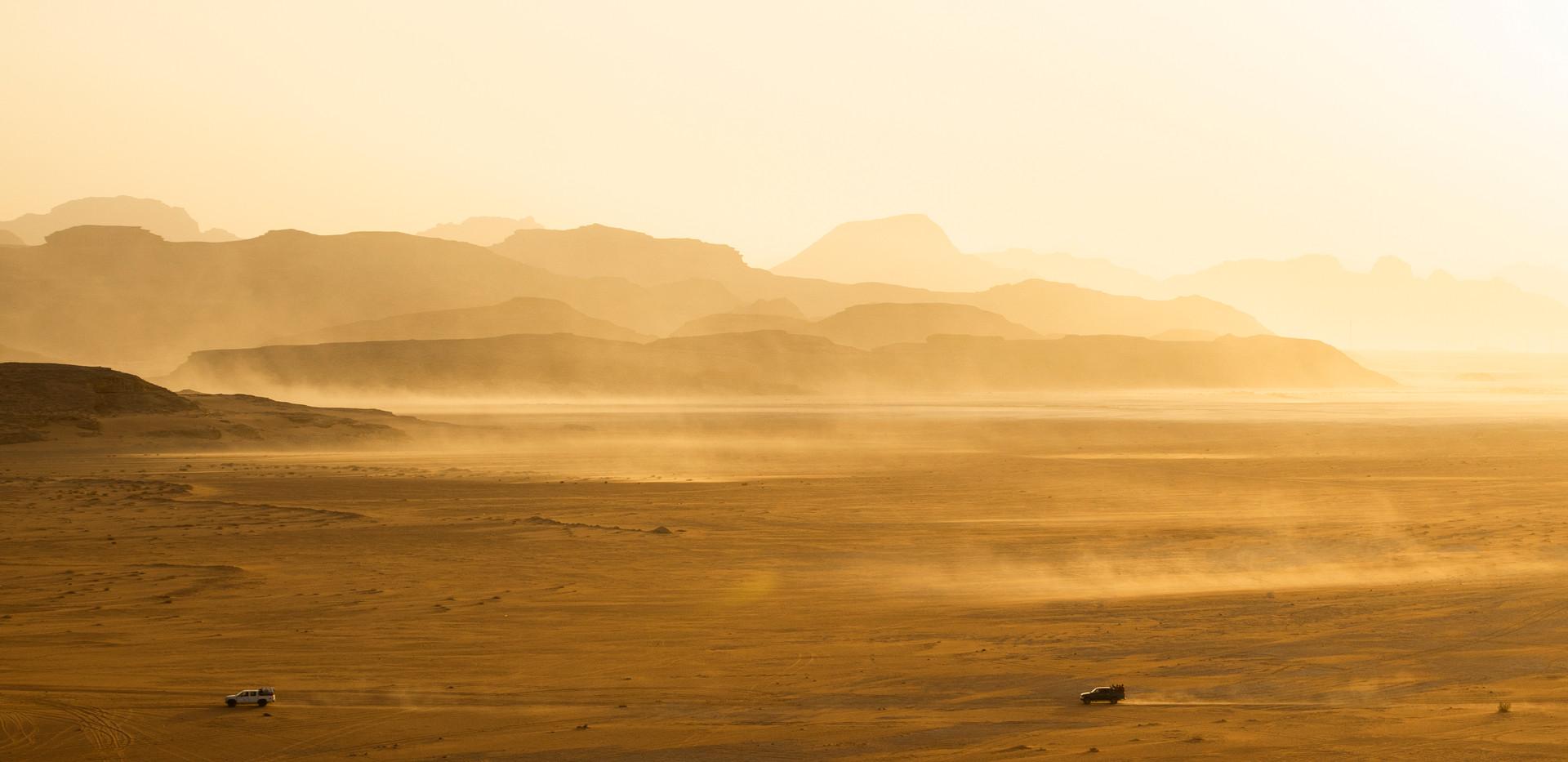 Jordan desert landscape