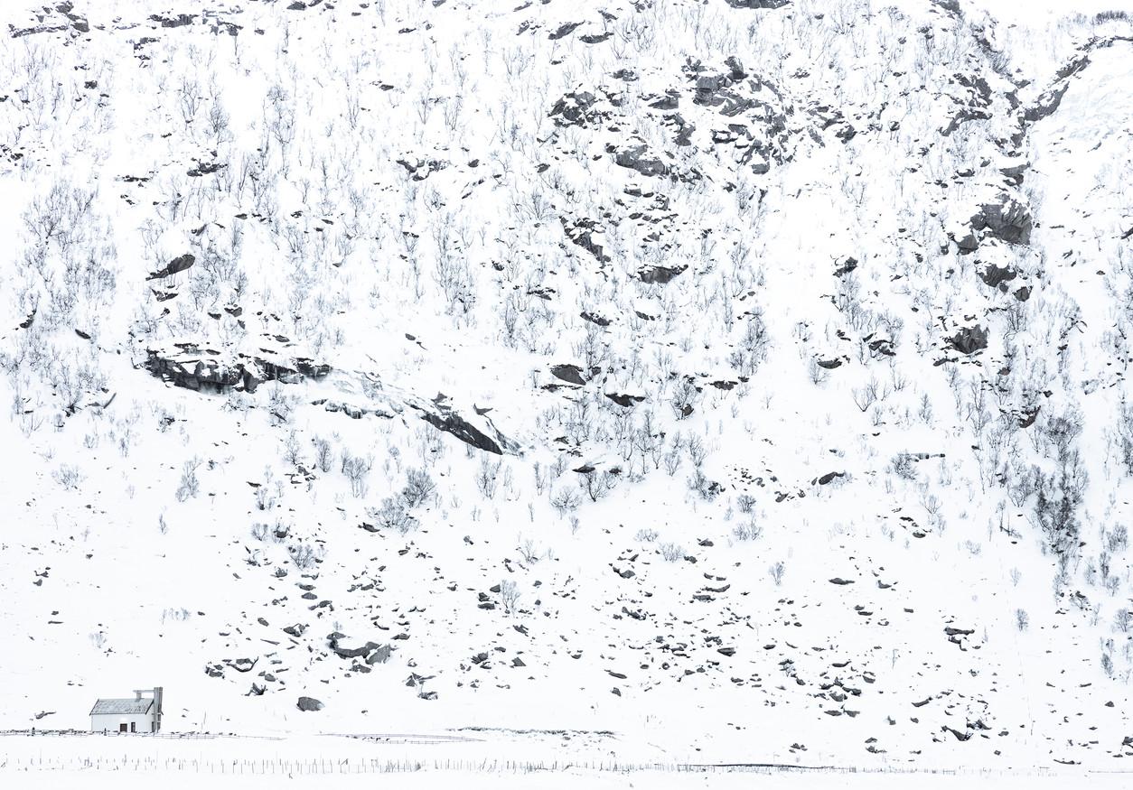 House in snowy landscape
