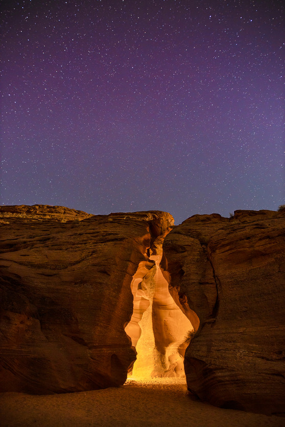 Antelope Canyon by night