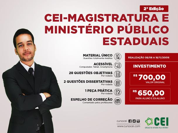 CEI - Magistratura e Ministério Público estaduais - 2ª Edição