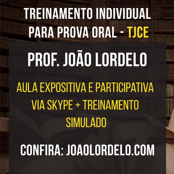 Treinamento para prova oral do TJCE