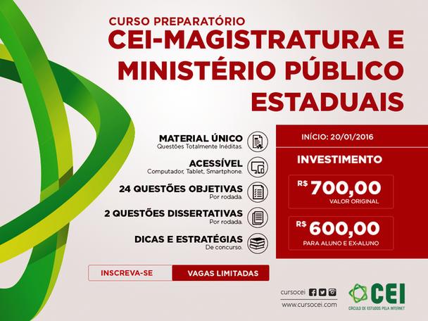 CEI - Magistratura e MP Estaduais