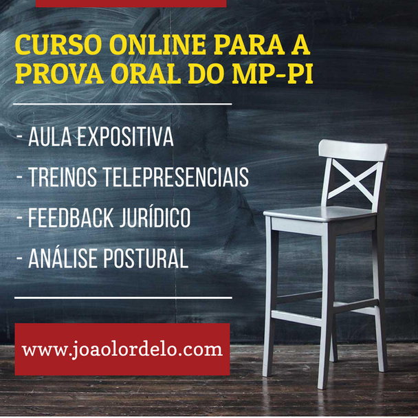 Treinamento para prova oral do MP-PI