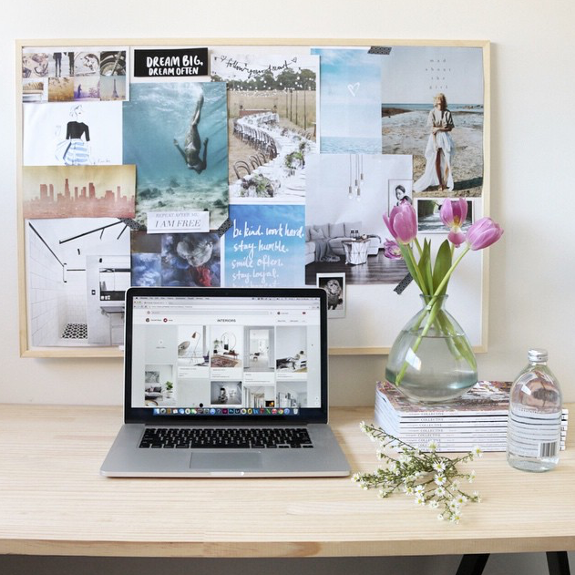Carmel's work space