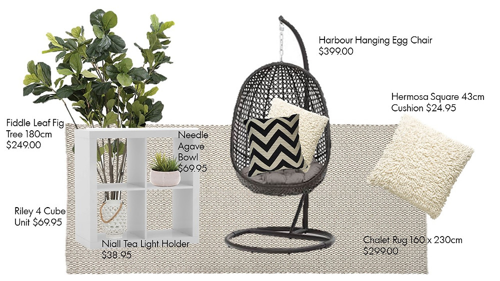 Harbour Hanging Egg Chair and accessories