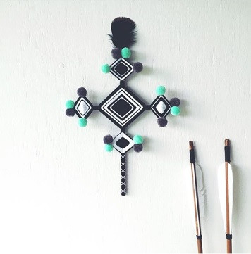 Ghost Pom Pom Cross