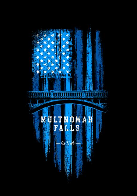 Multnomah Falls Graphic Tee