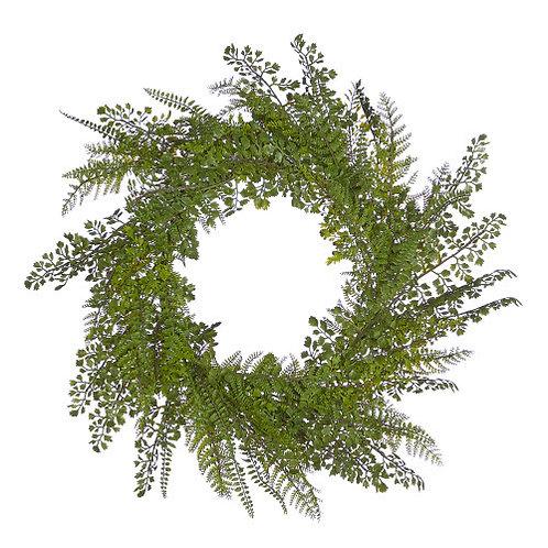 Mixed Fern Wreath