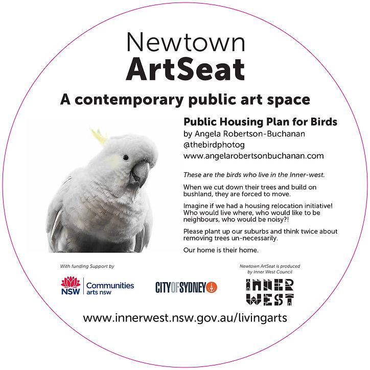 Newtown Art Seat Didactic - Angela Rober