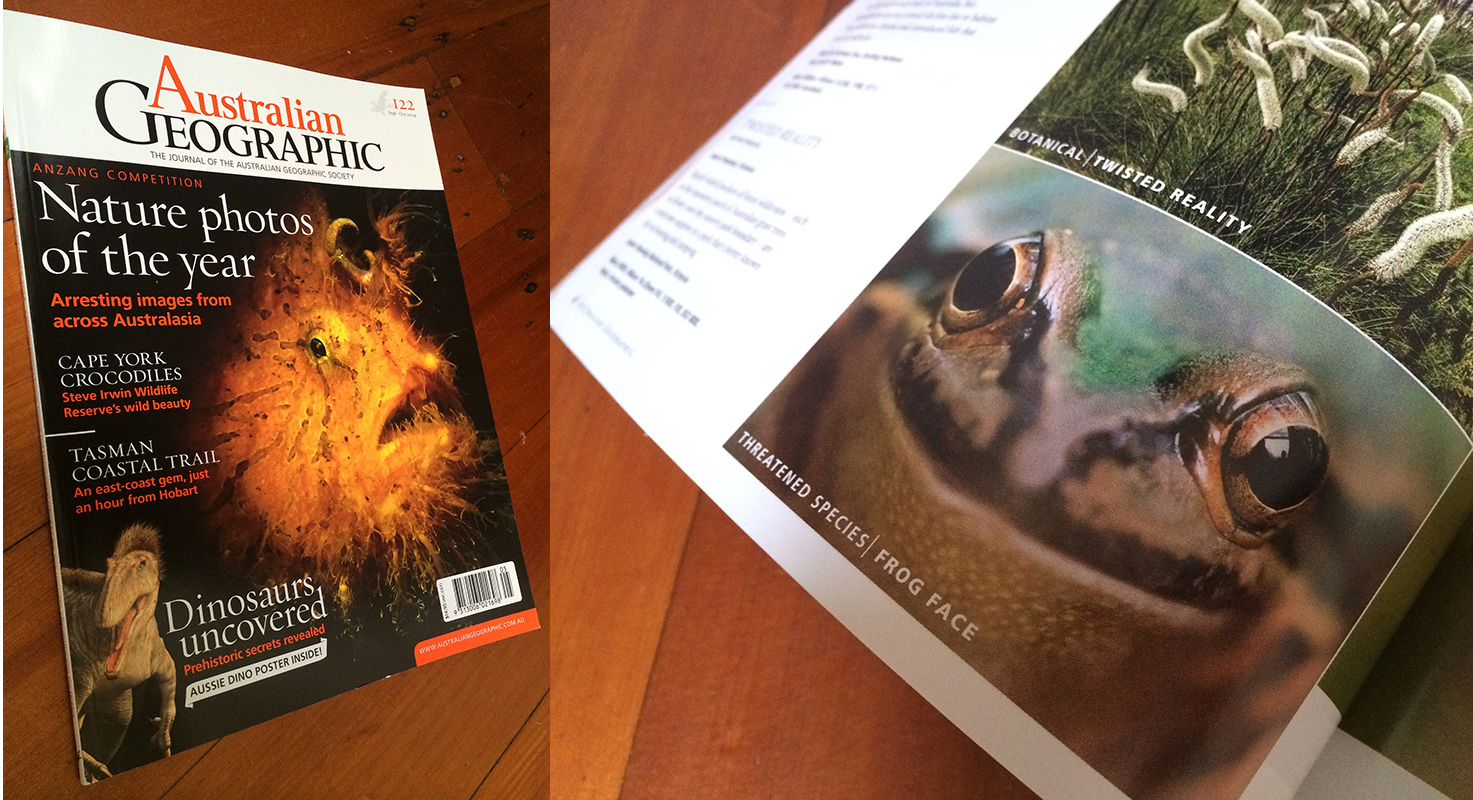 Australian Geographic magazine.