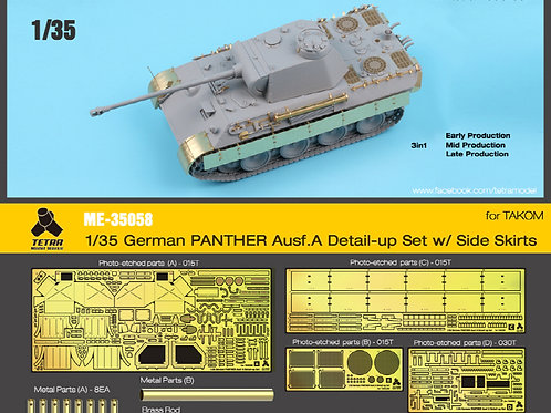 1/35 Pather Ausf.A PE Upgrade W/Side Skirts, for TAKOM