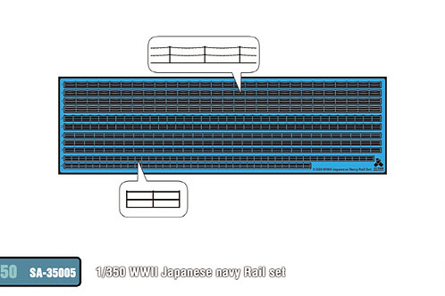 1/350 Japanese Navy Rail Set WWII