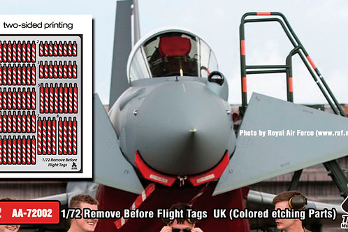 1/72 Remove Before Flight Tags UK (Colored etching Parts)-