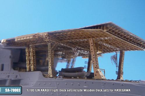 1/700 IJN AKAGI Flight Deck set(include Wooden Deck set) for HASEGAWA