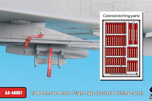 1/48 Remove Before Flight tags, pre-coloured PE