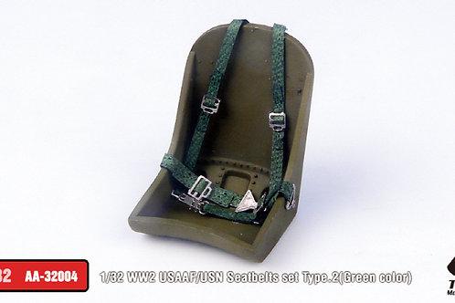 1/32 WW2 USAAF/USN Seatbelts set Type. 2 (Green)