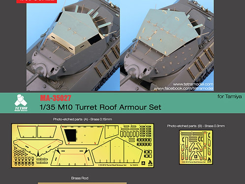 1/35 M10 Turret Roof Armour Set (2 types)