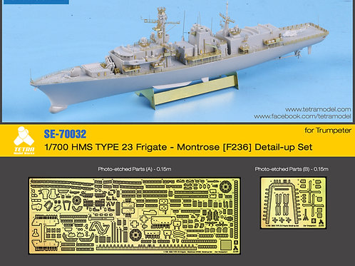 1/700 HMS TYPE 23 Frigate - Montrose [F236] Detail-up Set (for Trumpeter)-