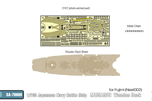 1/700 IJN Battleship Musashi Wooden Deck for Fujimi NEXT002