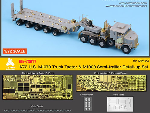 1/72 US M1070 & M1000 Trailer Detail-up Set (for Takom)