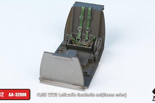 1/32 WW2 Luftwaffe Seatbelts, pre-painted, set of 2 (Green)