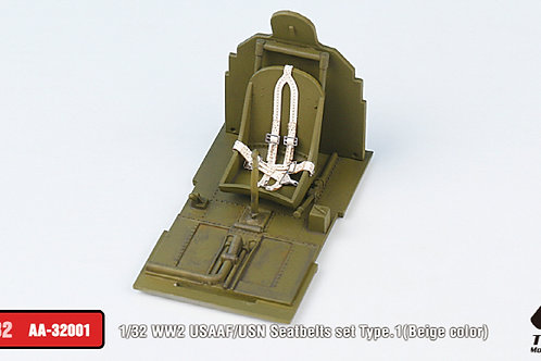 1/32 WW2 USAAF/USN Seatbelts set Type.1 (Beige)