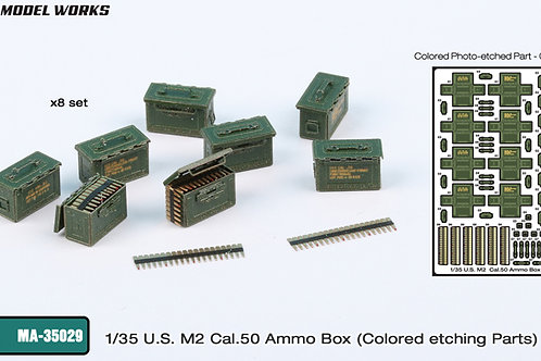 1/35 US. (WW2) M2 50.cal Ammo Boxes (and ammo), prepainted PE