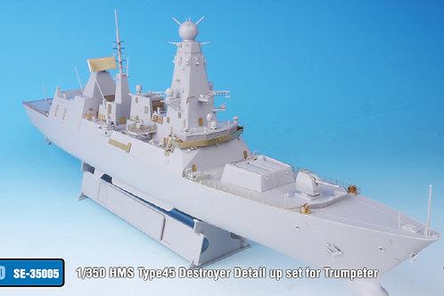 1/350 HMS Type45 Destroyer Detail up set for Trumpeter