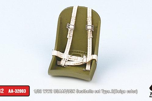 copy of 1/32 WW2 USAAF/USN Seatbelts set Type.2 (Beige)