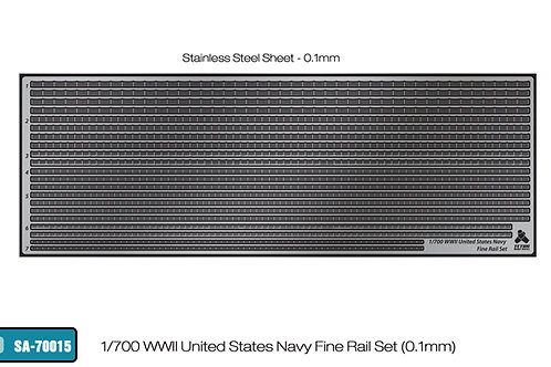 1/700 WWII United States Navy EXTRA FINE Railings (0.1mm thickness)