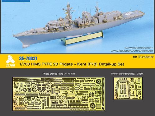 1/700 HMS TYPE 23 Frigate - Kent [F78] Detail-up Set (for Trumpeter)-