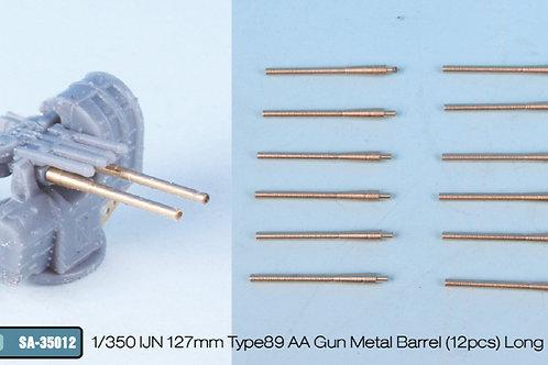 1/350 IJN 127mm Type89 AA Gun Metal Barrel (12pcs) Long