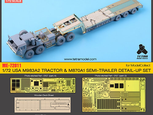 1/72 M983A2 TRACTOR & M870A1 SEMI-TRAILER DETAIL-UP SET for ModelCollect