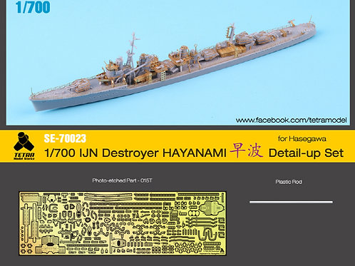 PE Upgrade for 1/700 IJN Destroyer Hayanami for Hasegawa