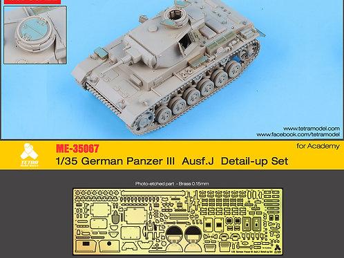 1/35 German Panzer III Aust.J Detail-up Set (for Academy)