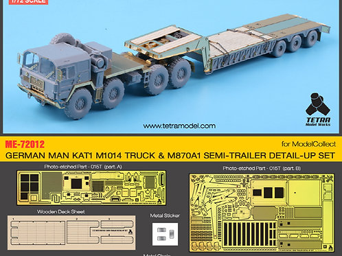 1/72 GERMAN MAN KAT1 M1014 TRUCK & M870A1 SEMI-TRAILER DETAIL-UP SET for ModelCo
