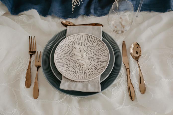 Floral & Field Wedding Tablescape Detail