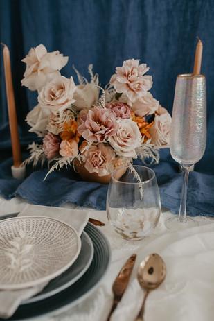 Floral & FIeld Wedding Table Centerpiece