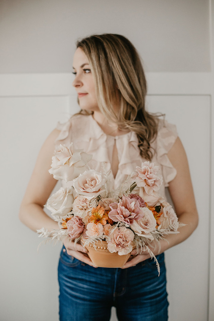 Floral & Field Wedding Flower Arrangement