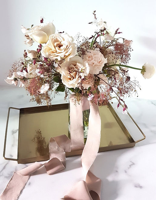 Beautiful Textural Blush Bridal Bouquet / wedding flowers / Alberta wedding / spring wedding / pretty wedding details / Floral & Field / Calgary Wedding Flowers / Bridal Flower Bouquet /banff flowers / bouquet flower for bride / wildflower bouquet