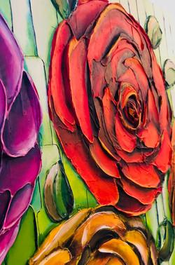 onderdeel schilderij pasta rozen, dec