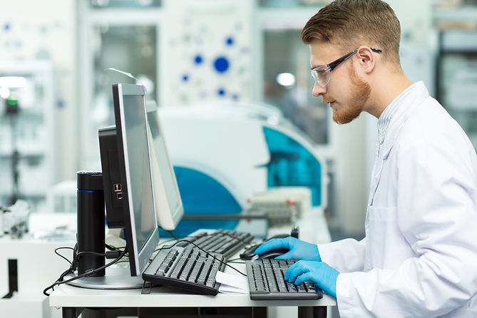 Male scientist working at the laboratory