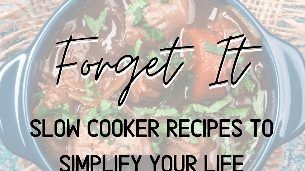FREE 5 Day Slow Cooker Meals, Set It & Forget it Plan