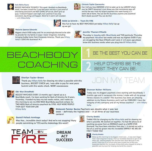 Beachbody Coaching | Team On Fire | Hillary Plauche