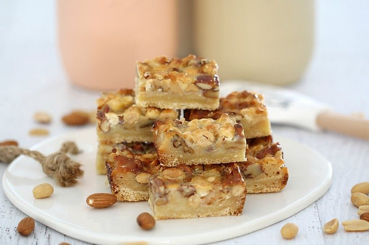 Yummy Nutty Slice Recipe - Hapisoy