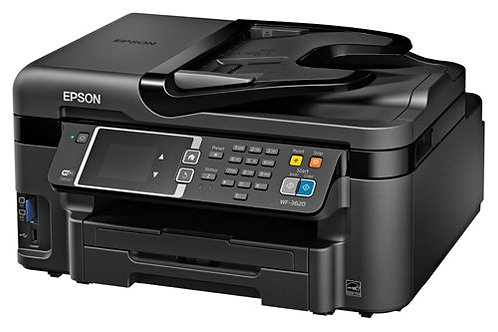 Epson WorkForce WF-3620 WiFi Direct All-in-One Color Inkjet Printer, Copier, Sca